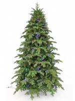 Искусственная елка Шервуд Премиум с гирляндой multicolor 215 см