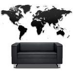 Пазл «Карта мира» черная 100х60 см