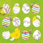 Салфетки Eggs Allover бумажные 20 шт.