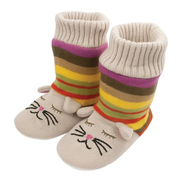 Вязаные носочки для кошек