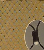 Свет.украшение Сетка 160 диодов 8 функций мигания голубая 90х185см