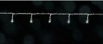 Электрическая гирлянда (холодный белый) для дома и улицы, длина 1272см, 160 белых ламп, провод прозр