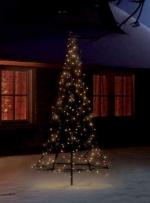 Елка каркасная из 250 светодиодных ламп теплого белого света, высота 185см, в комплекте со штангой.