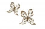 Набор украшений Бабочка 2 шт. (золото, стразы, бисер) 24 см арт. o-169671