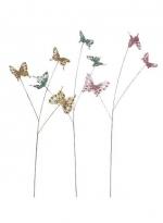 Украшение Бабочки на веточке (в ассортименте) 84 см