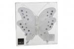 Бабочка со стразами на прищепке набор 2 шт. (белый) 15 см
