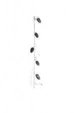 Гирлянда Шишки (серебряные блестки) 150 см