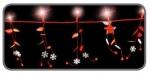 Электрическая гирлянда Звездочки/цветы/листочки (красный) на батарейках, длина 1,8 м, 20 тепло-белых