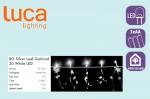 Электрическая гирлянда Звездочки/цветы/листочки (белый) на батарейках, длина 1,8м, холодный белый арт. o-371322