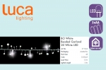 Электрическая гирлянда Бусы (белый), на батарейках, длина 1,8м, холодный белый свет, 20 Led лампы, п