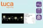 Электрическая гирлянда Бусы (золотой), на батарейках, длина 1,8м, теплый белый свет, 20 Led лампы, п