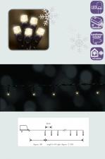 Электрическая гирлянда Led, теплый белый  (длина  312 см, 40 ламп, 8 функций).