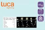 Электрическая гирлянда Звездочки/цветы/листочки (белый) на батарейках, длина 1,8м, теплый белый свет