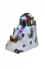 Горка ледяная с подсветкой, фигурка декоративная (керамика)