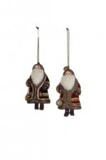 Украшение Дедушка Мороз, 7*13 см, два вида в ассортименте арт. o-169424
