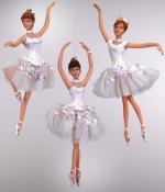 Украшение елочное Балерина Невеста, 17 см, три вида в ассортименте