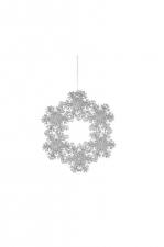 Венок Снежинки (серебро) диаметр 12 см