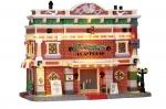 Театр с неоновыми огнями (керамика), с подсветкой, на батарейках, размер 20*23*15 см арт. о-25363