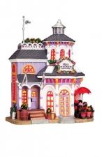 Цветочный магазин (керамика), с подсветкой, на батарейках, размер 21*18*13 см арт. о-85740