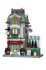 Цветочная лавка (керамика), с подсветкой, на батарейках. арт. о-35505