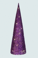 Елка конусная для декора с Led подсветкой, 88*27 см, фиолетовый