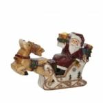 Украшение Санта в санях, 19*4*13 см арт. o-164405