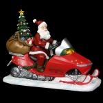 Новогодняя музыкальная композиция Санта на снегоходе, 25*11*20 см арт. o-181054