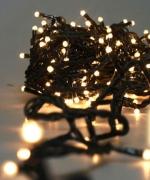 Электрогирлянда 100 LED лампочек, цвет теплый белый, провод 2,6 метра