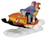 Дети катаются на снегоходе 10,5*7,2*5 см
