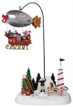 Рождественский дирижабль 33,6*19*18,3 см, от адаптера арт. о-24484