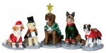 Костюмированные Собачки,набор из 5 фигур, 10,5*4,9*3,8 см арт. o-32126