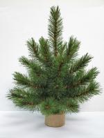 Елка Лесная красавица на деревяной подставке 30 см