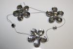 Гирлянда Цветочек, цвет серебро (акрил) 40 см.