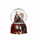 Снежный шар Санта с подарками, музыкальный