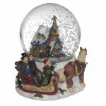 Снежный шар Заснеженный домик, музыкальный