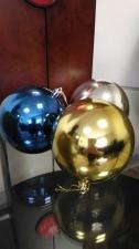 Набор из 6-ти пластиковых шаров 8 см, цвет золото