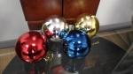 Набор из 6-ти пластиковых шаров 8 см, цвет серебристый