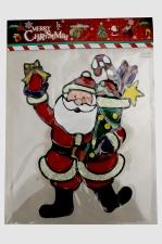 """Наклейка на стекло""""Санта с подарками""""22*26 см."""
