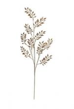 Украшение Веточка золотого цвета с блестками 76см.