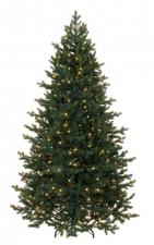 Ель Шервуд Премиум стройная 185 см с гирляндой 168 ламп (резина + ПВХ)