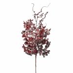 Веточка с ягодами 73 см красная в снегу