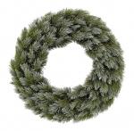 "Декор круг ""Женева"" зеленый заснеженный, диаметр 45 см"