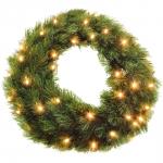 "Декор круг ""Лесная красавица"" диаметр 45 см с лампами"