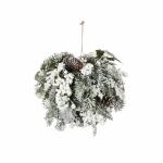 Шар подвесной Глазго с ягодами диаметр 25 см белый