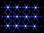Гирлянда 12 led голубой, от батареек 1,57 м.