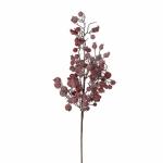 Декор веточка с ягодами 64 см красная заснеженная