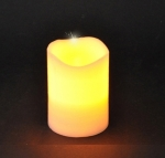 Свеча теплый желтый свет 10*7,5 см