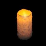 Свеча в инее теплый свет 15*8 см