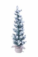 Сосна Касуми ,заснеженная 90 см. С вплетенной гирляндой 50 LED